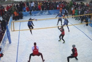 Snow volleyball